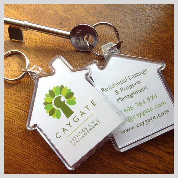 Caygate Lettings keyrings