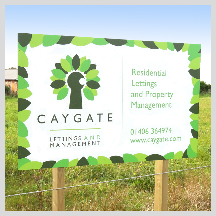 Caygate Lettings signage