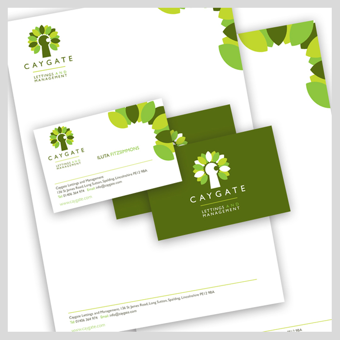 Caygate Lettings stationery