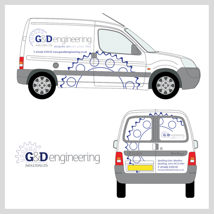 G and D van livery concepts